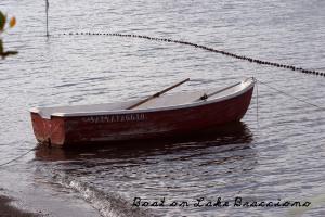 Boat on Lake Bracciano
